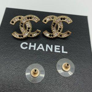 💜Rare💜Chanel Swarovski crystals+stones earrings